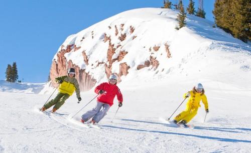Esquiando em Aspen