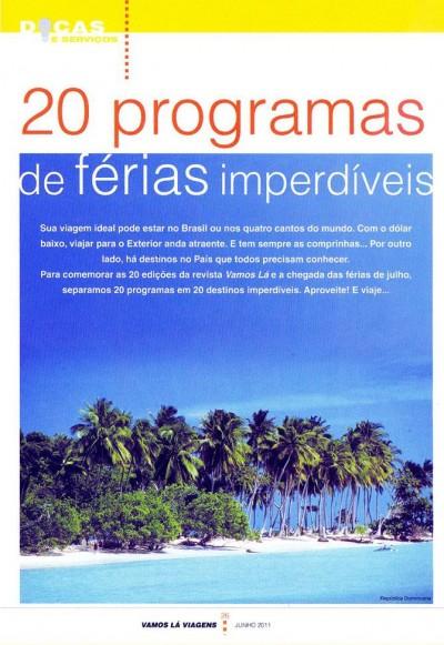 20 programas de férias imperdíveis