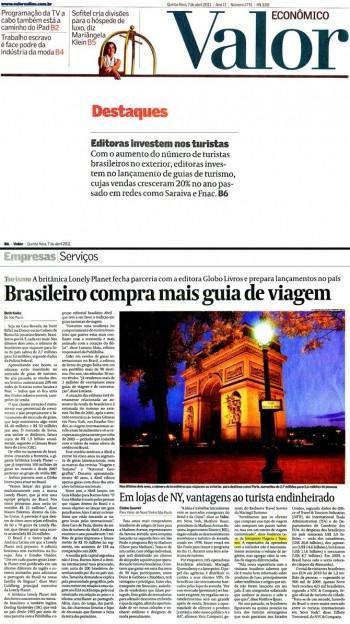 Brasileiro compra mais guia de viagem