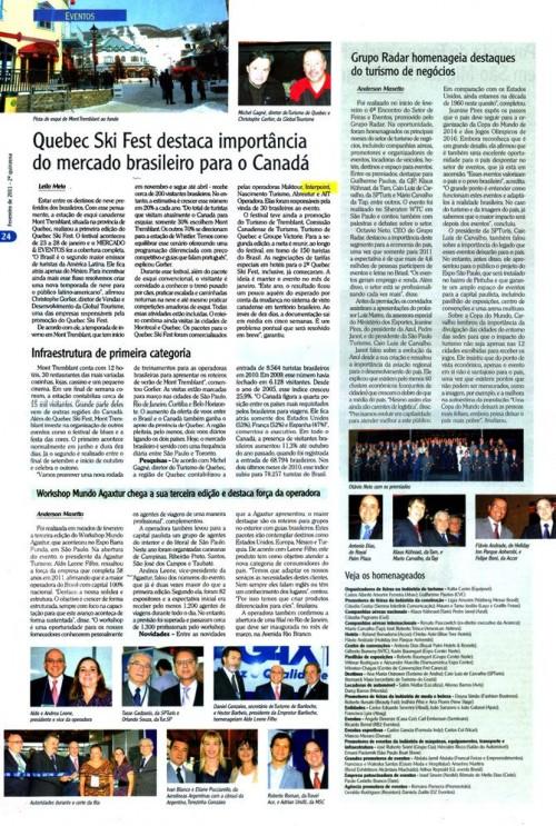 Quebec ski fest destaca importancia do mercado brasileiro para o Canadá