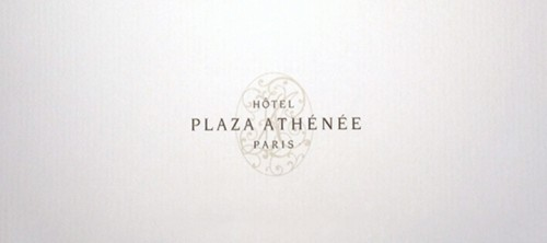 Agradecimento Plaza Athénée