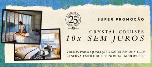 Promoção exclusiva Crystal Cruises