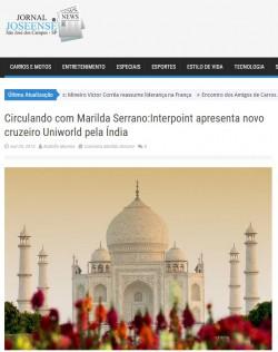 Circulando com Marilda Serrano:Interpoint apresenta novo cruzeiro Uniworld pela Índia
