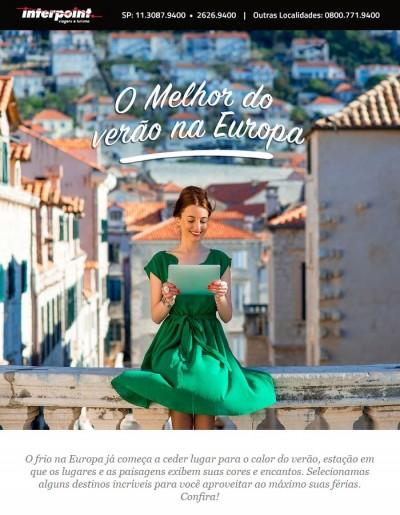 Os melhores destinos pra você aproveitar o verão na Europa!!
