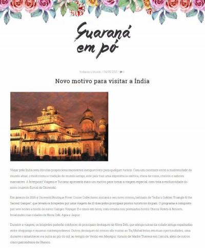 Novo motivo para visitar a Índia