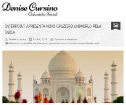 Interpoint apresenta novo cruzeiro Uniworld pela Índia