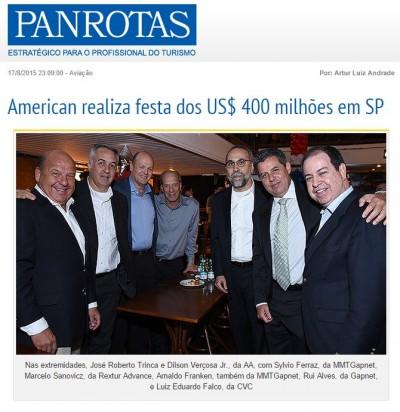 American realiza festa dos US$ 400 milhões em São Paulo