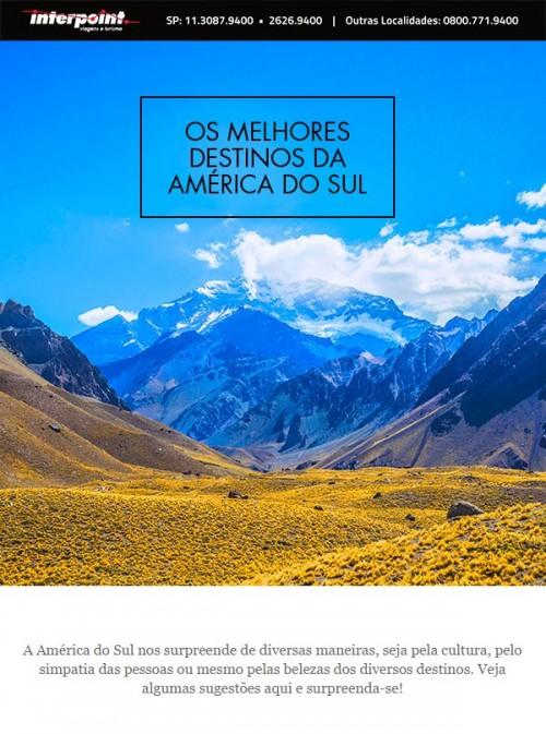 Roteiros de viagem para destinos próximos, aqui na América do Sul