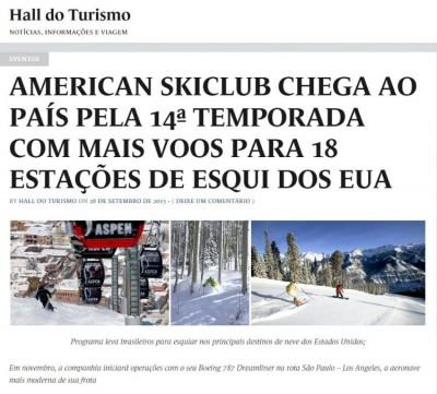 American Skiclub chega ao país pela 14ª temporada com mais voos para 18 estações de esqui dos EUA'