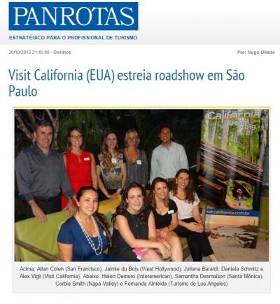 Visit California (EUA) estreia roadshow em São Paulo