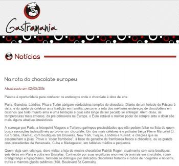Na rota do chocolate europeu