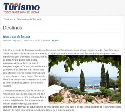 Sobre o mar da Toscana