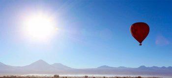 O Deserto do Atacama – sobrevoo de balão