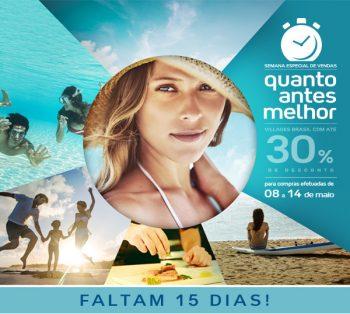FALTAM 15 DIAS – Promoção Quanto Antes Melhor! Até 30% de desconto para Club Med Brasil