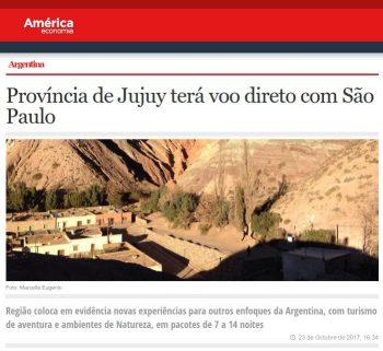 Província de Jujuy terá voo direto com São Paulo