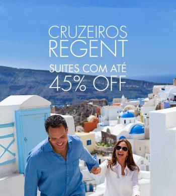 ★ Cruzeiros Regent Seven Seas – Suítes com até 45% de Desconto.