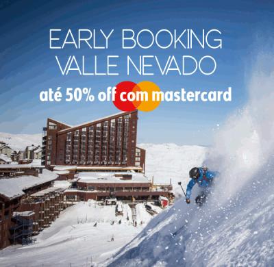★ Ski América do Sul – Early Booking Valle Nevado – Até 50% OFF com Mastercard!