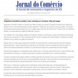 Viajantes brasileiros podem usar roaming ou comprar chi pré-pago