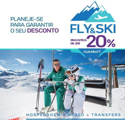 Só Hoje! – Até 20% OFF – Club Med Fly & Ski – 8x sem juros – nos dias 27, 28 e 29 de Agosto.